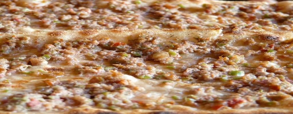 pizza de elaborado de ternera