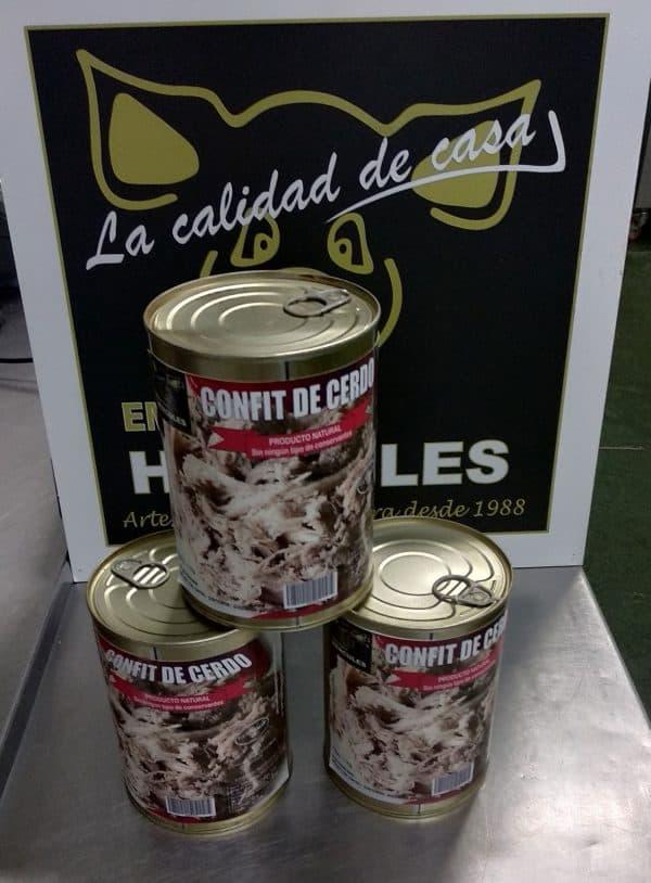 Confit de cerdo en lata